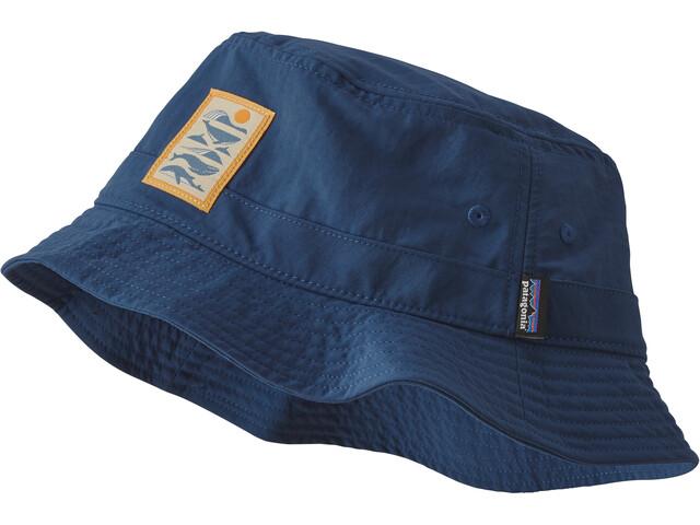 Patagonia Wavefarer Bucket Hat, whale tail tubes/stone blue